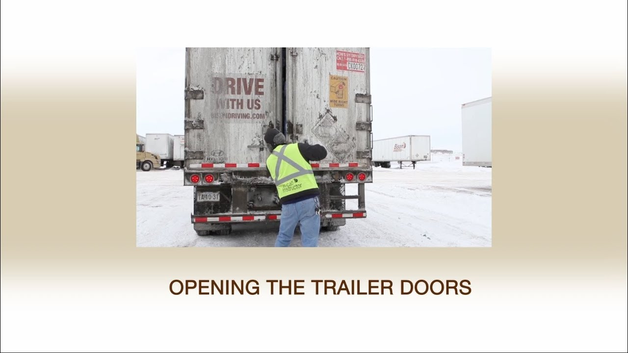 Injury Prevention Video Series Episode 5 - Opening the Trailer Doors  sc 1 st  YouTube & Injury Prevention Video Series: Episode 5 - Opening the Trailer ...