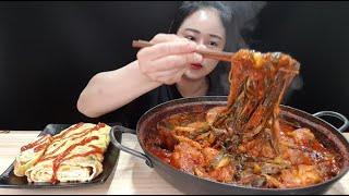 🔥이열치열🔥 실비파김치 한 통 다 넣어서 만든 실비파김치 닭다리볶음탕 치즈계란말이 먹방 spicy green onion kimchi stew rolled omelet mukbang
