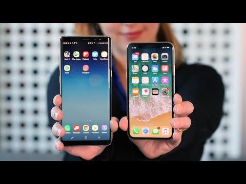 Duelo de titanes: Apple iPhone X vs. Samsung Galaxy Note 8