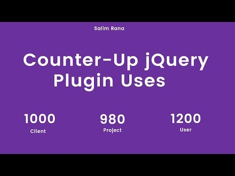 Counter-Up JQuery Plugin Uses In HTML Template