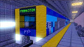 Minecraft Metro Trains in the City Loop