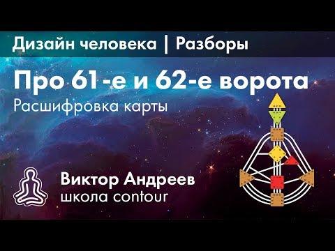ВОРОТА В ДИЗАЙНЕ ЧЕЛОВЕКА: 62 И 61 ► Астродизайн