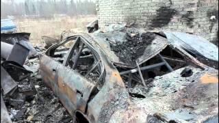 Пожар на Гоночной трассе Уничтожино все!