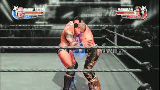 WWE Allstars Xbox 360 Randy Orton vs John Morrison RKO Out of nowhere