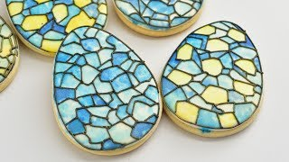 STAINED GLASS EASTER EGG COOKIES by HANIELA