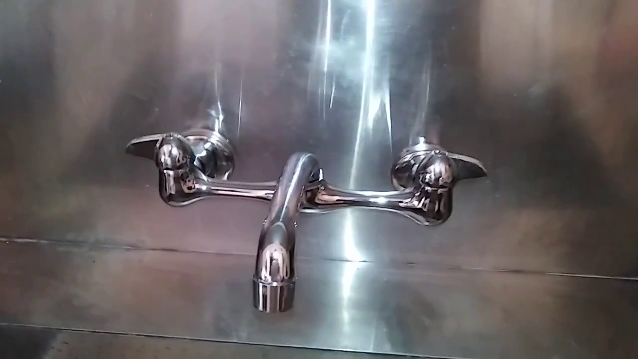 WALL MOUNT KITCHEN FAUCET REPLACEMENT - YouTube