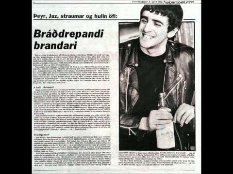 KILLING JOKE - JAZ COLEMAN with Þeyr aka Theyr in Iceland 1982