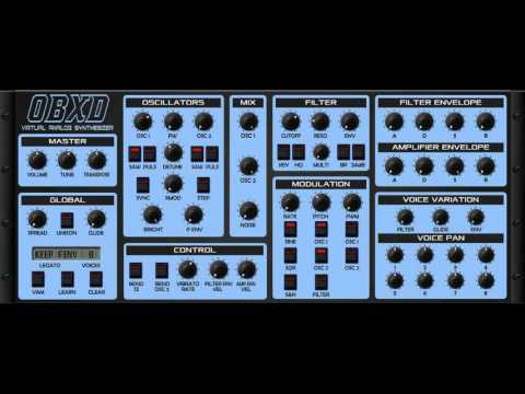 80s tune with OBXD VST