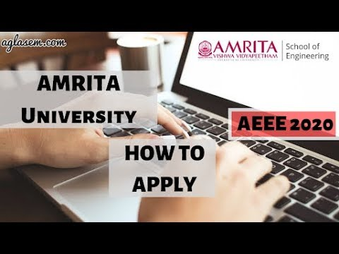 How to Apply for Amrita University B.Tech Admission 2020, AEEE 2020?
