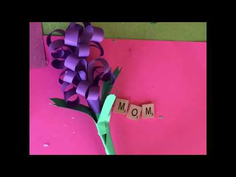 Mothers Day/spring craft paper hyacinth flowers how to make paper flowers floral crafts