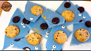 Cookie Monster Candy Bark - Easy kids chocolate dessert recipe