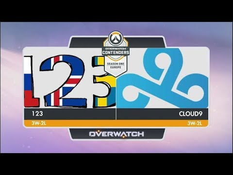 123 vs Cloud9 (Part 2) | OW Contenders Season One: Europe