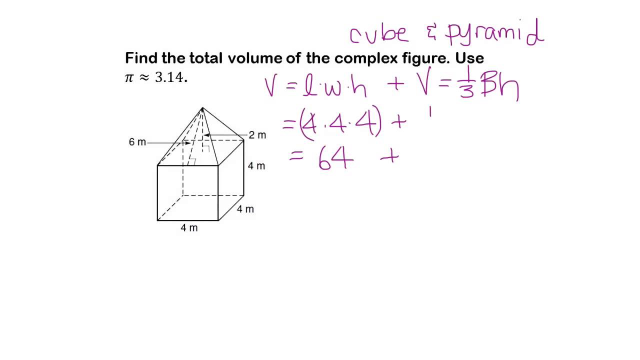 Geometry Help How To Find The Volume Of Composite Figures Youtube