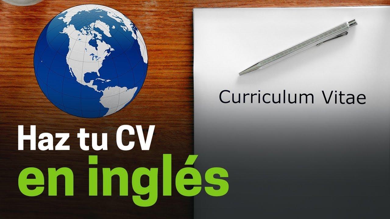 Cómo hacer un currículum en inglés - YouTube