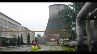Wyburzenie komina EC Megatem Lublin