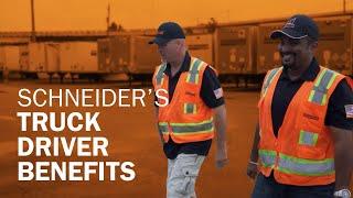 Schneider's truck driver benefits