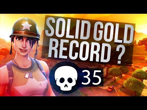 35 Kill Soloish vs Squads (Solid Gold) Fortnite