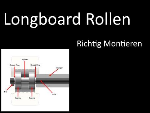 longboard rollen montieren