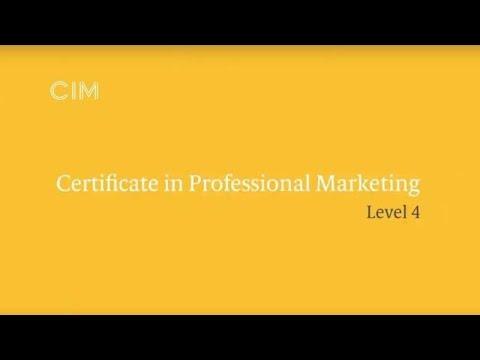 CIM Professional Marketing Qualifications Level 4