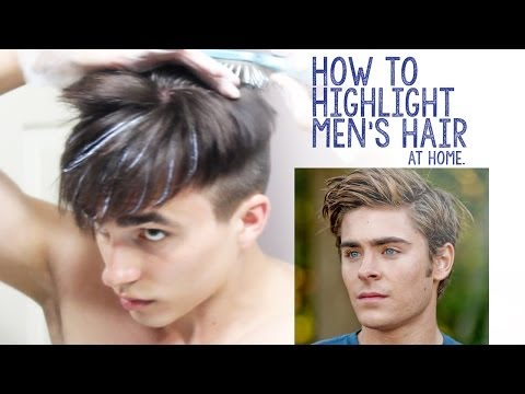 How To Highlight Men S Hair At Home Youtube