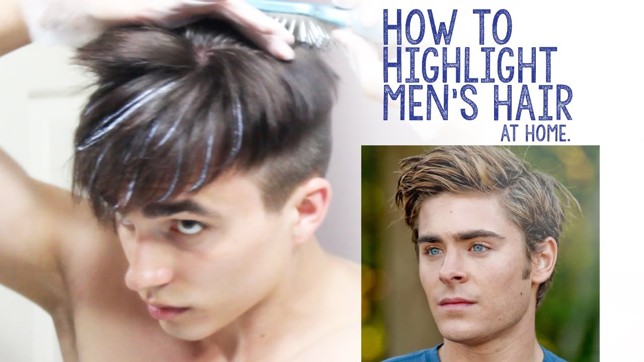 How To Highlight Mens Hair At Home Youtube