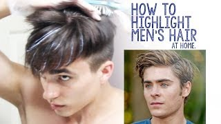 How to Highlight Men's Hair at Home