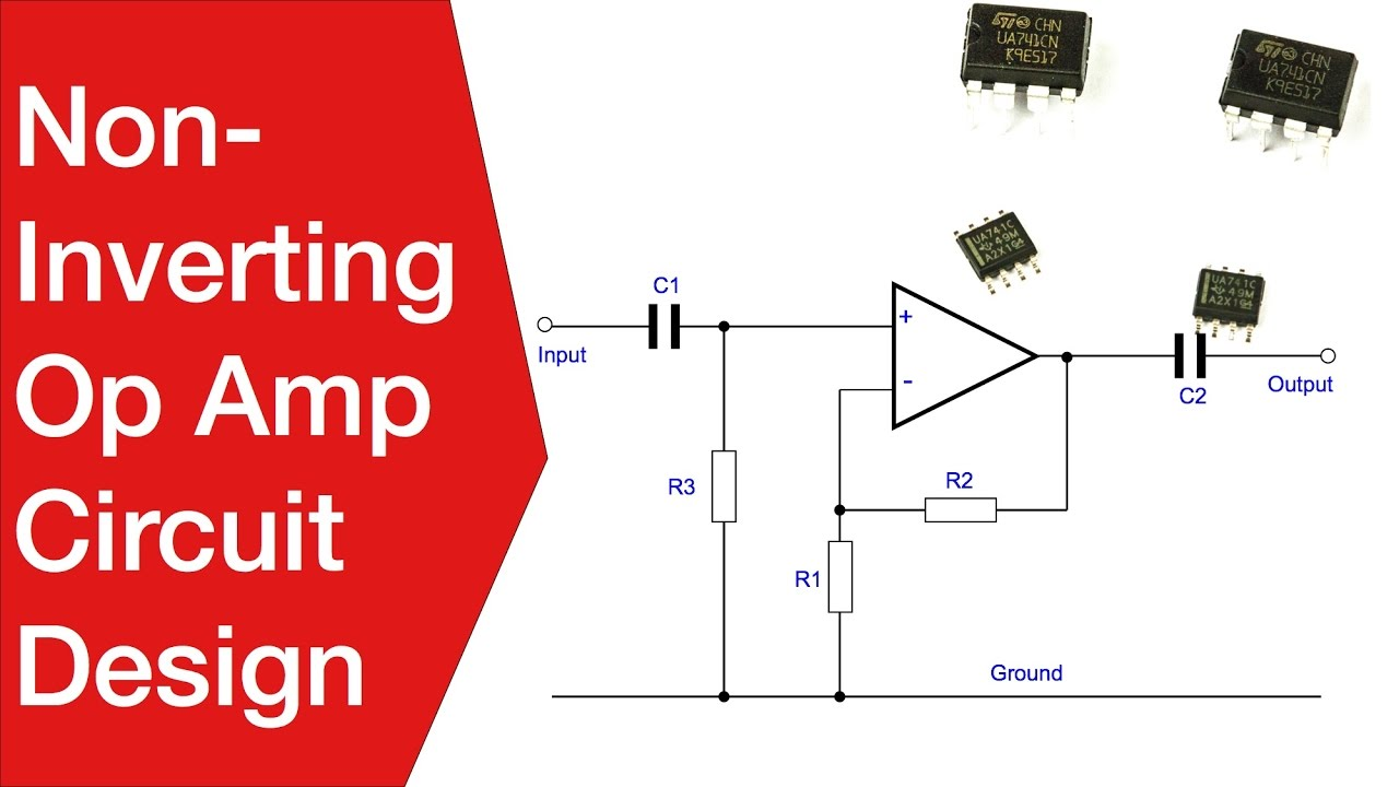 Circuit Diagram Of Non Inverting Amplifier Boat Battery Wiring Diagrams Op Amp Design Operational Youtube