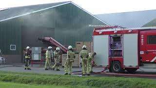Meterkast landbouwschuur in brand in Zuidvelde