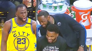LeBron James Can't Stop Laughing At Draymond Green After He Gets Ejected! Lakers vs Warriors