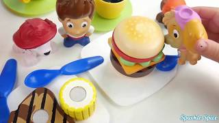 Kitchen Sink with paw patrol eating