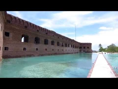 Dry Tortugas National Park, Florida - Fort Jefferson Moat Walkway HD (2016)
