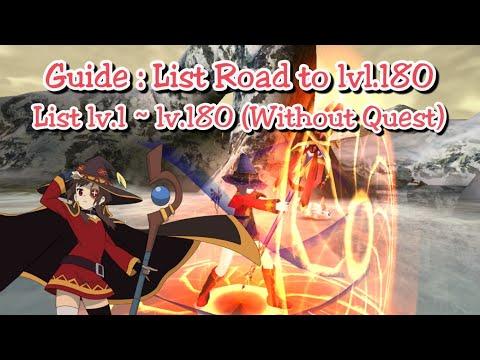 Toram Online - Guide : Leveling List Road To Lv 180!! (list Lv.1 ~ Lv.180)