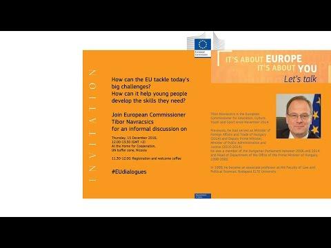 Citizens' Dialogue with Tibor Navracsics