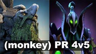N0tail Playing Both Tiny and Wisp!  Miracle- Rubick 4v5 (monkey) vs PR Dota 2