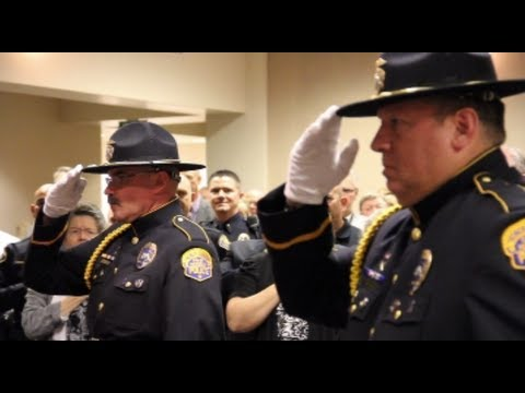 New Police Chief Swearing-In Ceremony - Modesto Police Chief Galen Carroll - Modesto, California