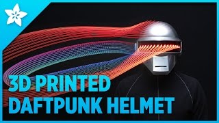 3D Printed Daft Punk Helmet with Bluetooth