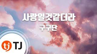 [TJ노래방] 사랑일것같더라 - 구구단(gugudan) / TJ Karaoke