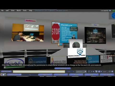 19th XBRL International Conference broadcast in Second LIfe from Paris