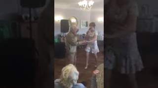 One of our Residents Teaching an Entertainer How to Dance!
