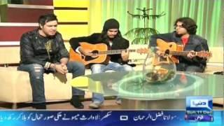 Tere Mera Rishta(LIVE unplugged) by RoXen on the show 'Harri Mirchain' on Dunya TV