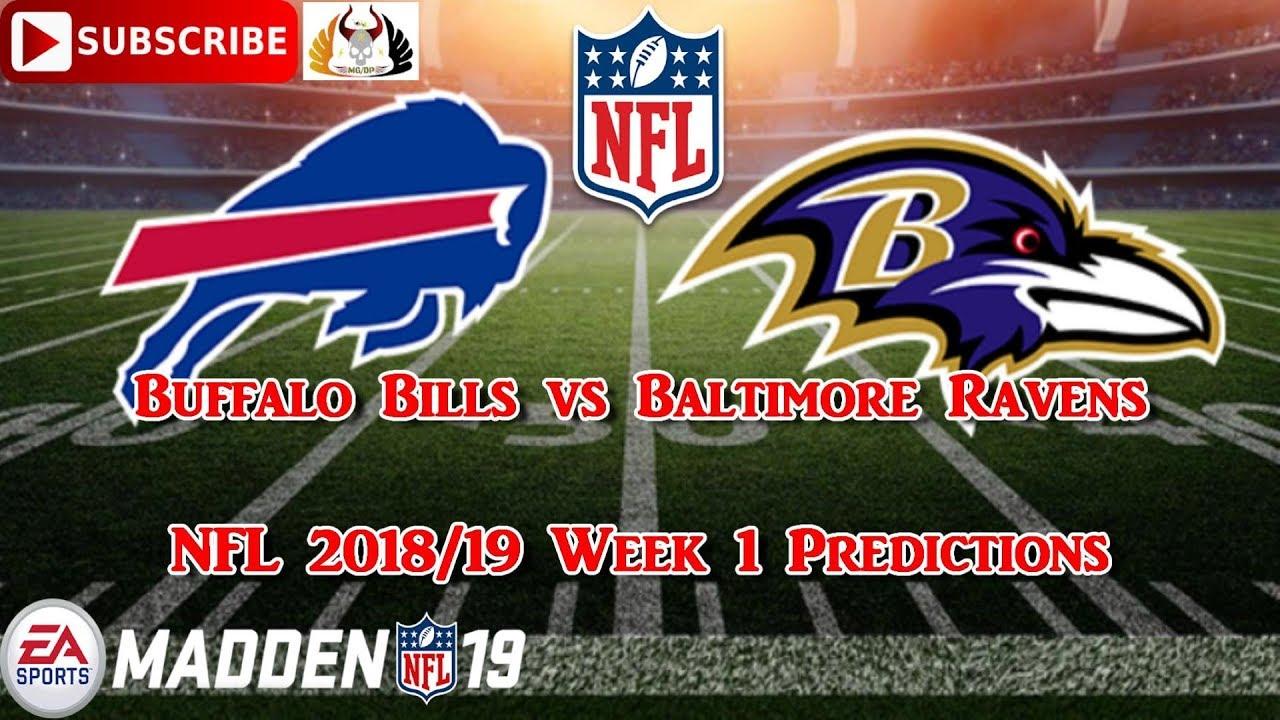 Buffalo Bills Vs Baltimore Ravens Nfl 2018 19 Week 1 Predictions Madden 19 Youtube