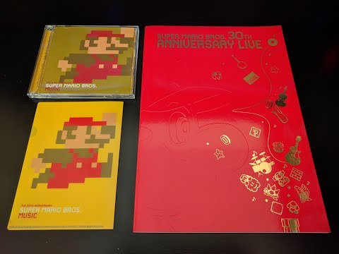 Super Mario Bros. 30th Anniversary Music CD and Program Book - Unboxing | James Clark