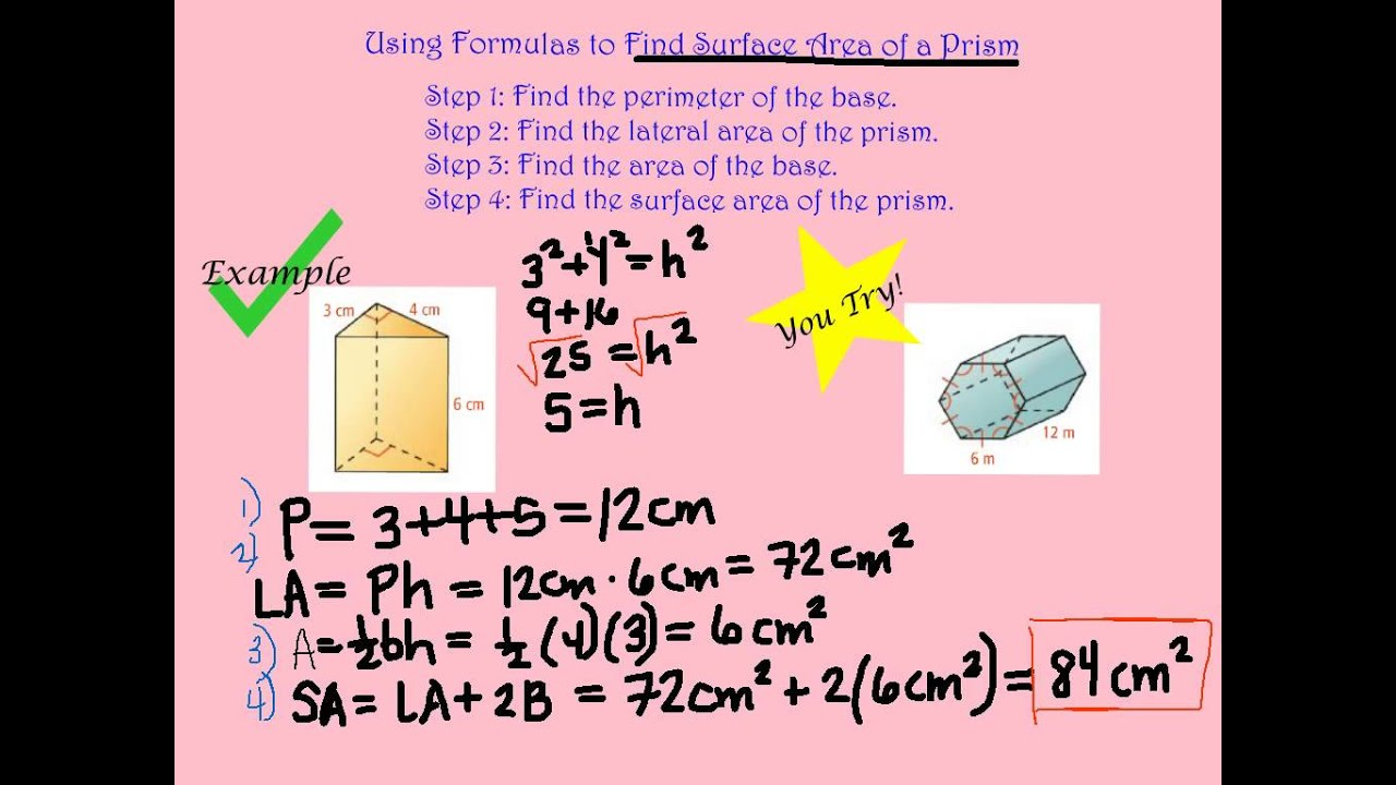 112 Surface Area Of Prisms And Cylinders