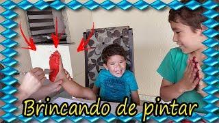 PINTANDO e APRENDENDO as CORES, desenho da PEPPA PIG e MINECRAFT | Feet Painting