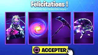 🎁 HOW TO RECEVOIR THE PIOCHE, PLANEUR, SAC A DOS GALAXY FREE!! Fortnite Battle Royale!