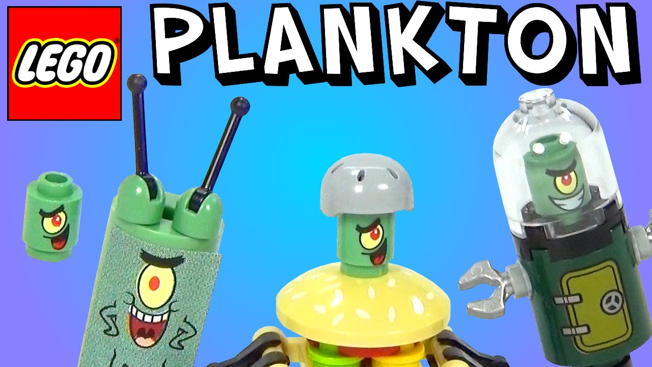 Every Lego Plankton Join Forces To Defeat Spongebob Brickqueen