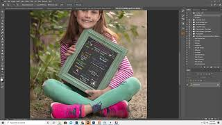 Adding a Chalkboard template in Photoshop and customizing it.  Changing clip art color, drag drop