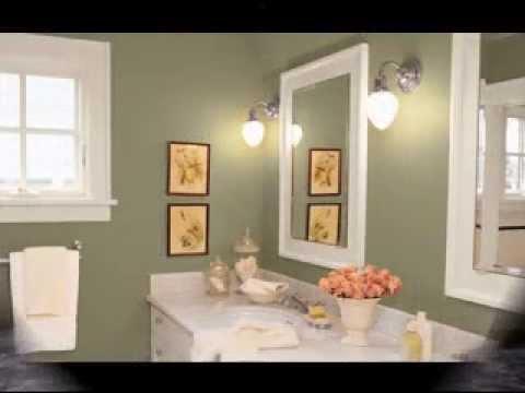 Cool Bathroom wall color ideas - YouTube
