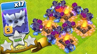 "ALL YETI ARMY w/ 3 Star on TH13 ""Clash Of Clans"" NEW YETI TROOP!"