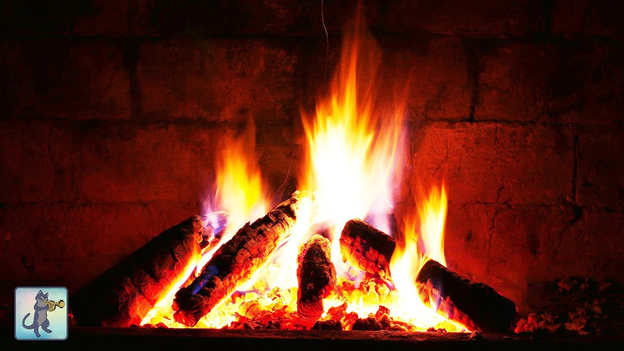 12 Hours Of Relaxing Fireplace Sounds Burning Fireplace